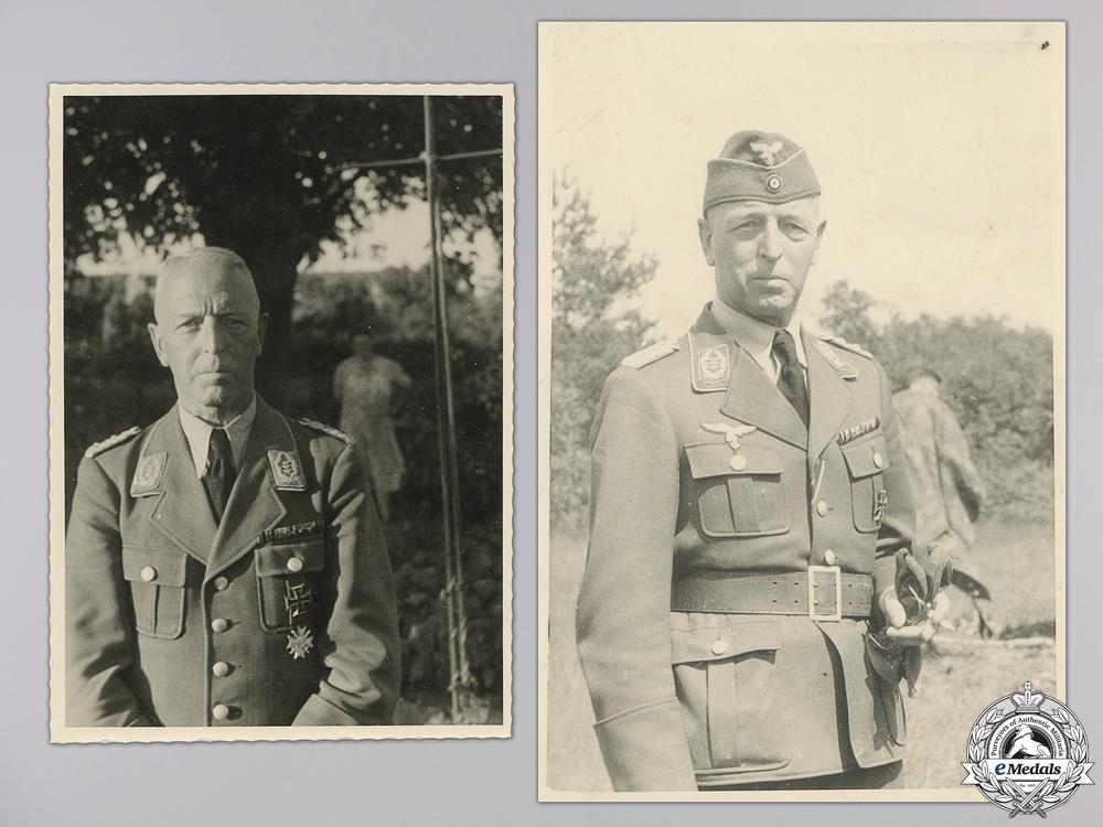 Two Second War Luftwaffe Officer Photographs