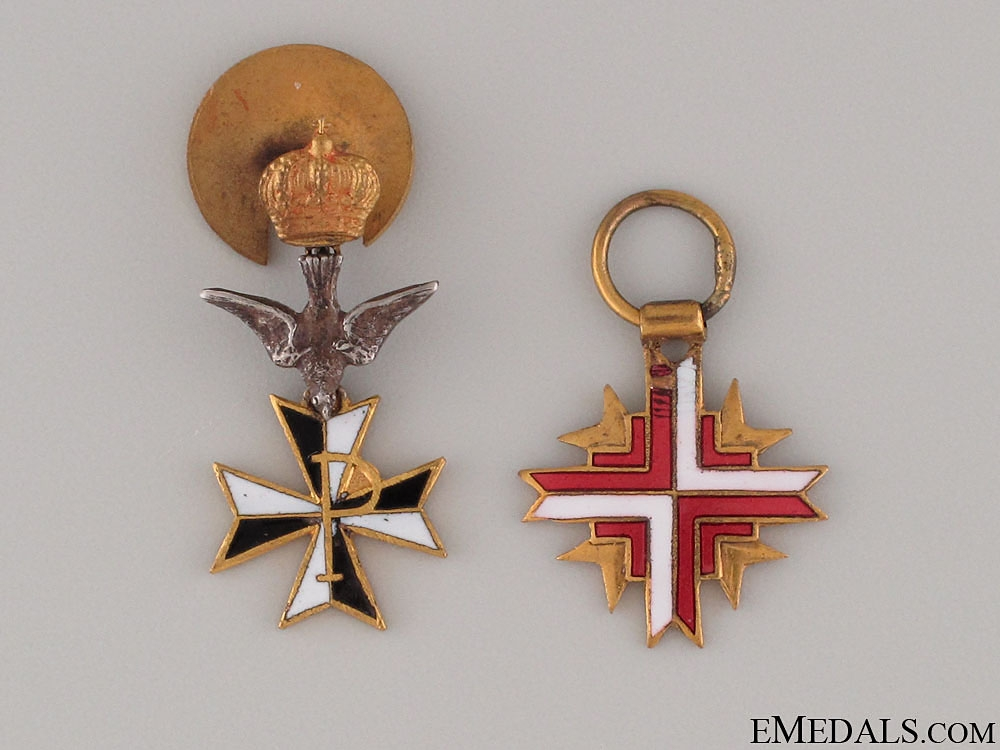 Two Spanish Miniature Medals