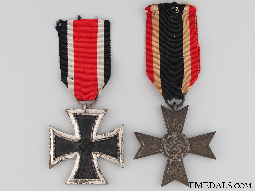 Two Third Reich 2nd Class Medals
