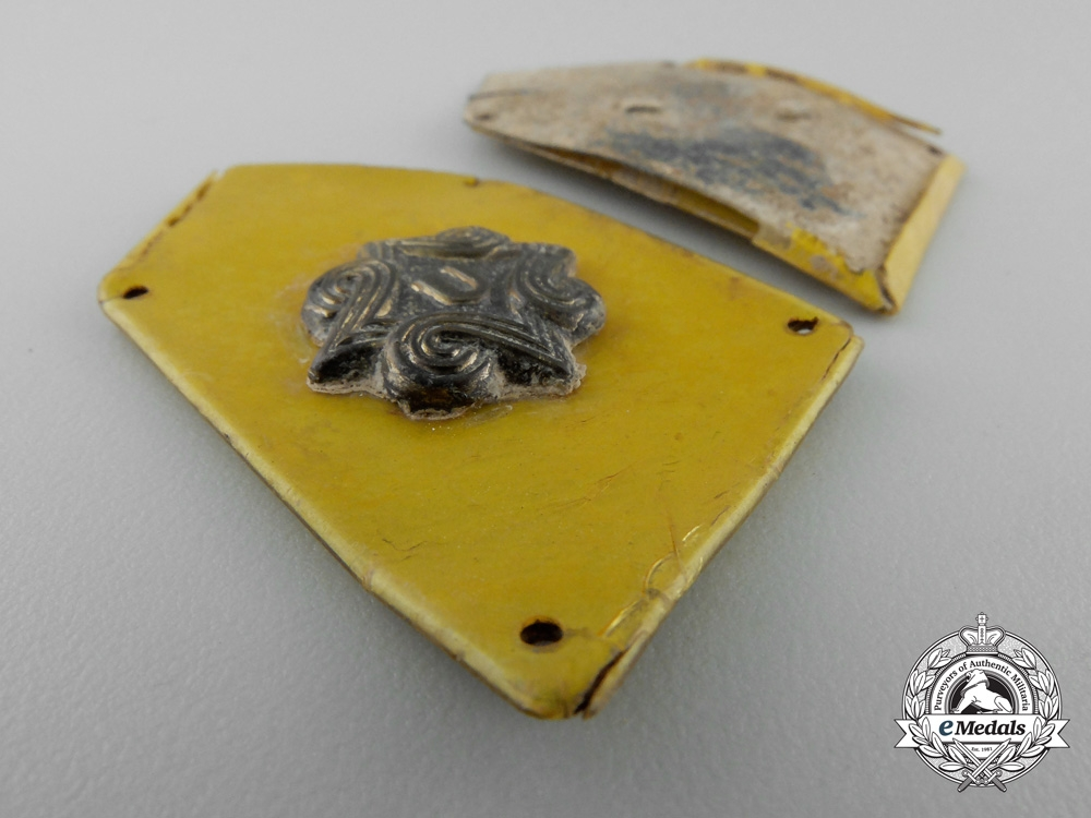 A Croatian Set of Pavelic Body Guards (PTS) Cavalry Collar Tabs