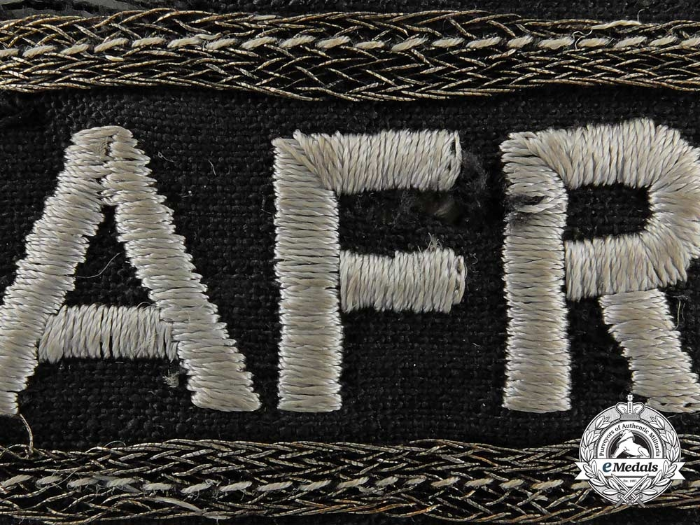 An Afrika Korps Panzer Officer's Campaign Cufftitle