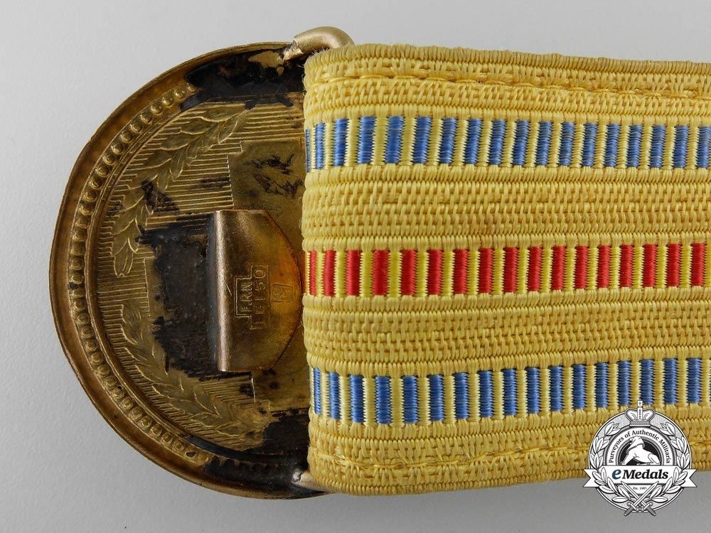 A 1930's Period Royal Romanian Officer's Belt and Buckle