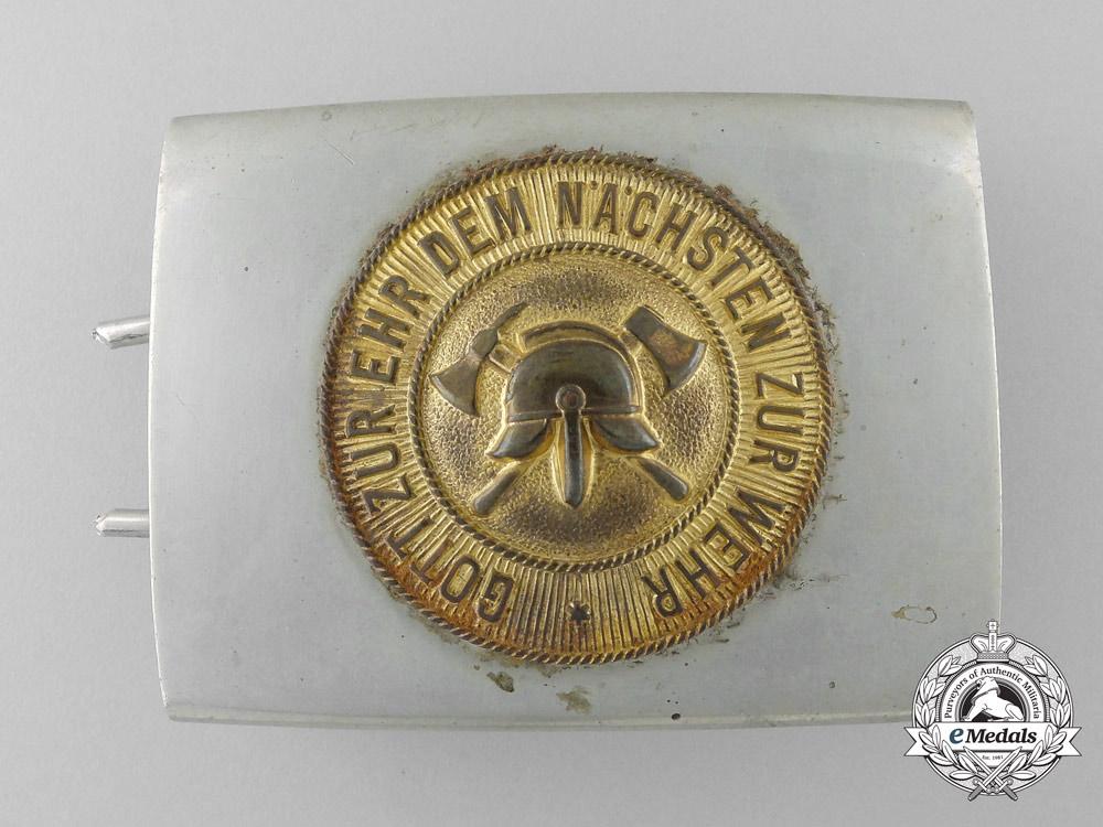 A Weimar Republic Volunteer Fire Defence Belt Buckle