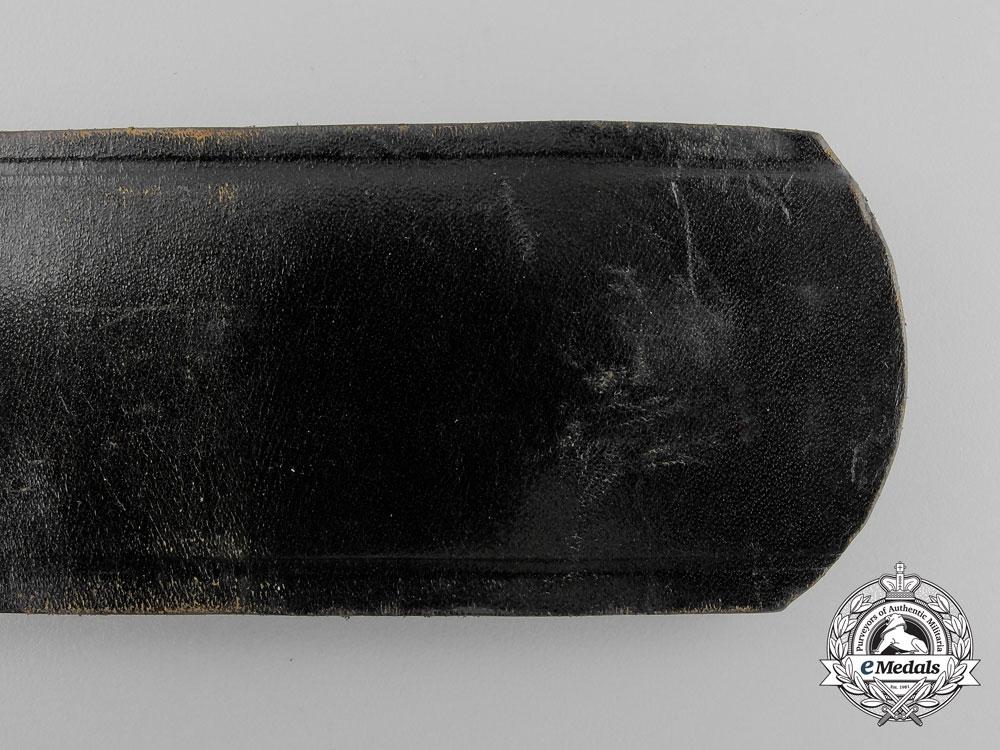 A German Black Leather Belt by Kernstuck 1937