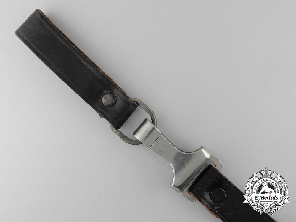 A Black Leather German Should Strap by Overhoff & Cie