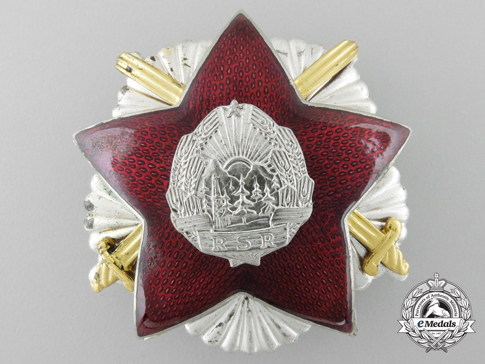 A 1949 Romanian Order of the Defense of the Fatherland; Second Class