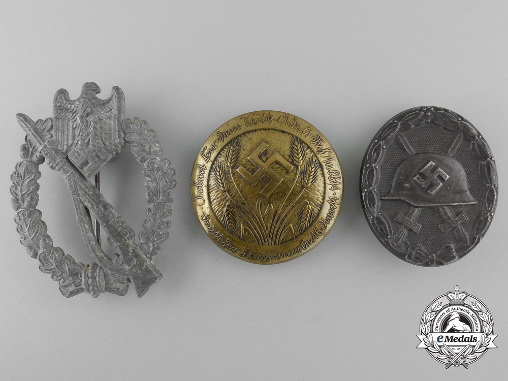 Three Second War German Awards and Badges