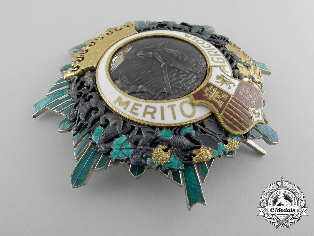 Spain. An Order of Agricultural Merit, c.1930