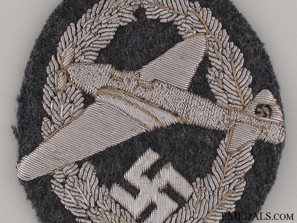 """Rare 1st Type NFSK Motor Pilot""""¢¯s Bullion Badge"""