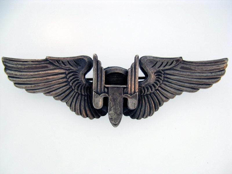 Sterling WWII AAF Gunner Wing