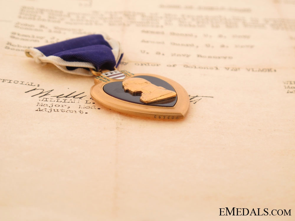Purple Heart Awarded for Wounds in U-Boat Attack
