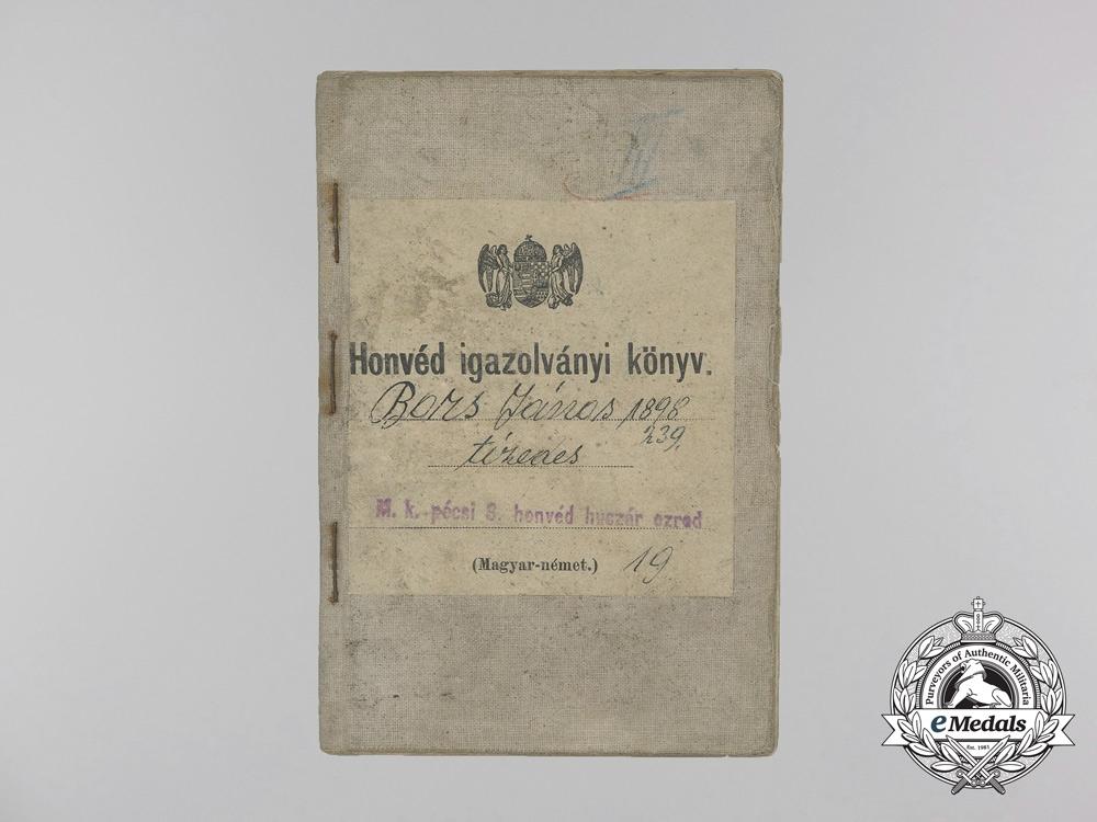 Hungary. A First War Hussar's Military Identification Pass