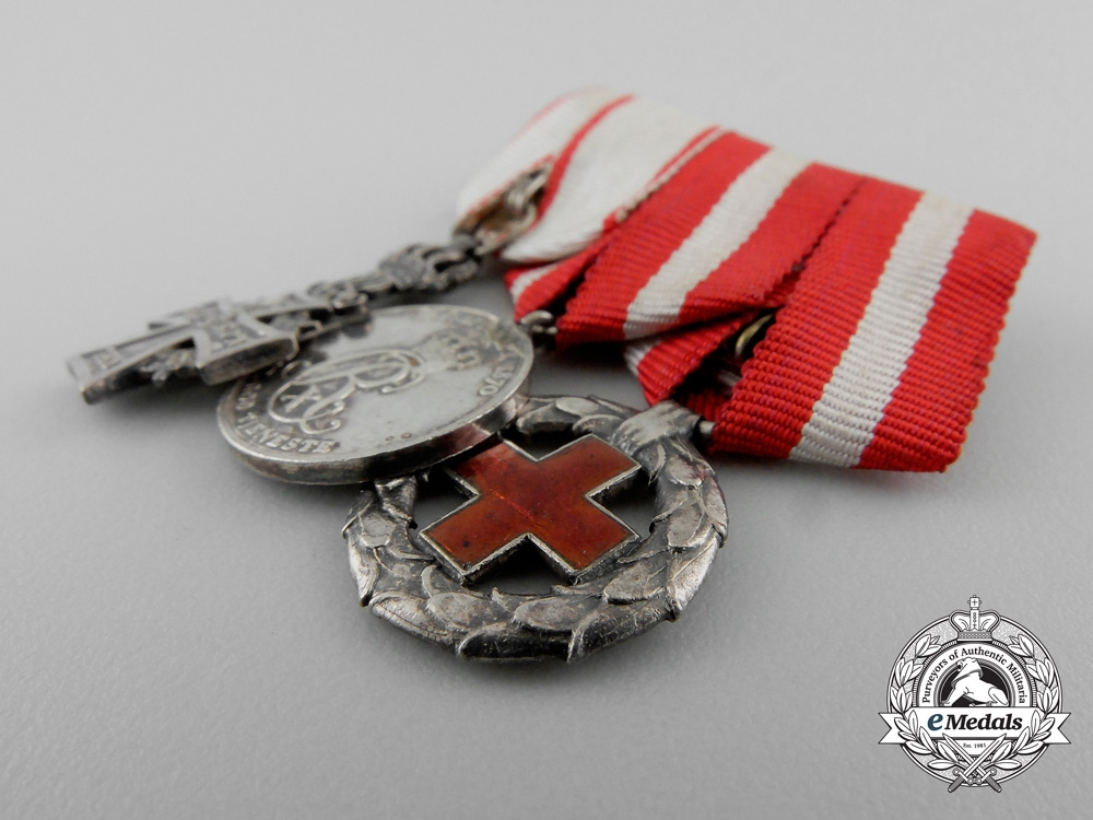 Denmark, Kingdom. An Order of Dannebrog & Long Service Miniature Group