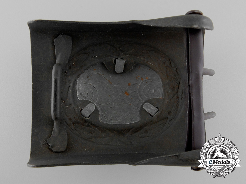 A Probable Post-War Modification of a Luftwaffe Enlisted Man's Belt Buckle by Franke & Co.