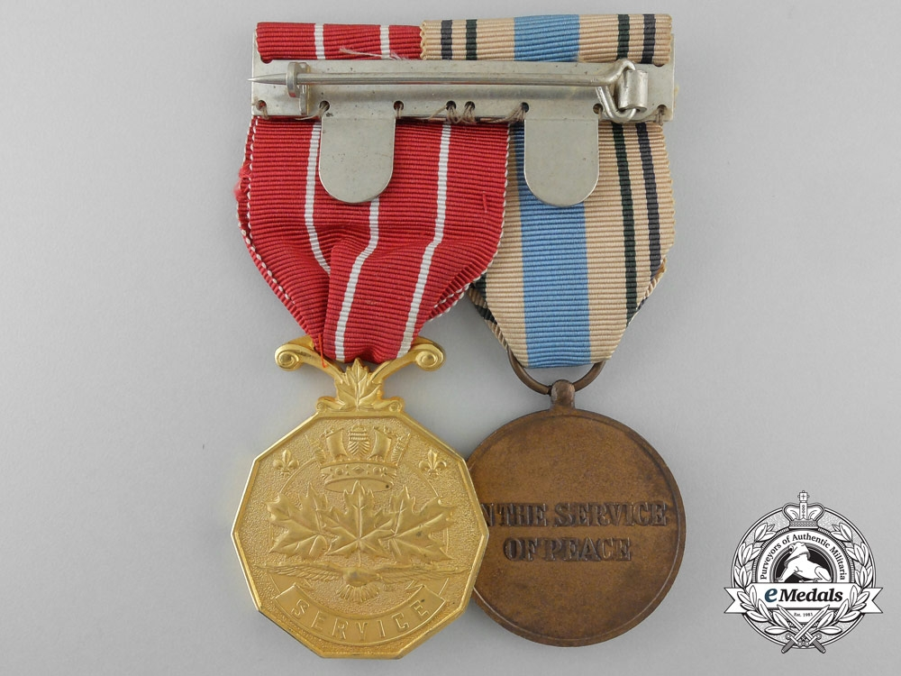 An Egypt and Israel United Nations Service Pair to Squadron Leader Sabourin