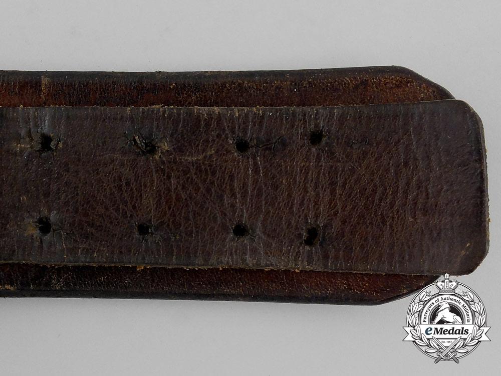 Two German Black Leather Belts; Christian Theodor Dicke, Ludenscheid