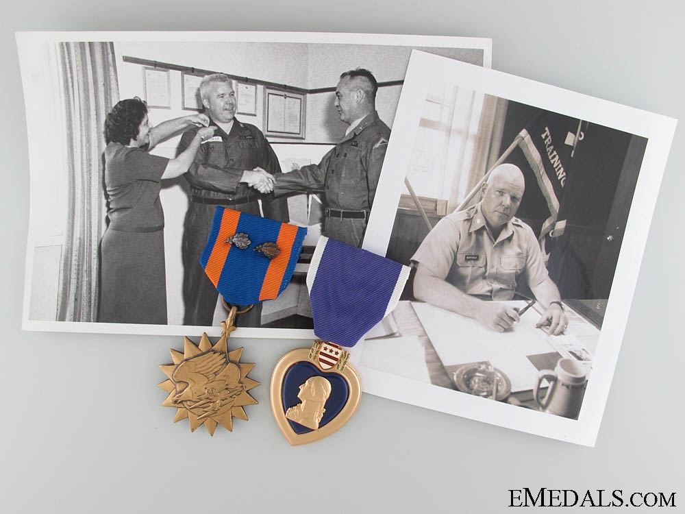 Vietnam War Air Medal and Purple Heart Group