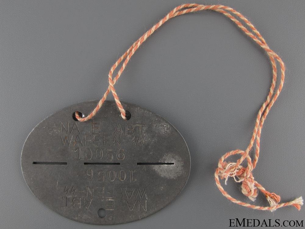 Waffen-SS ID Disc