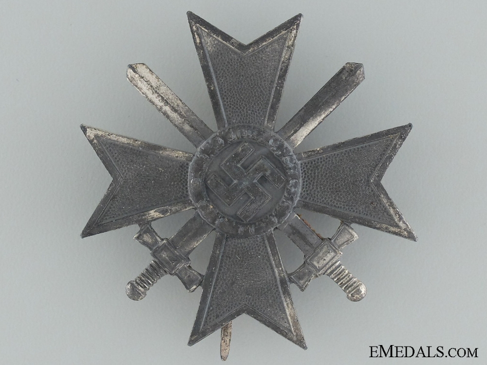 War Merit Cross First Class with Swords by W. Deumer