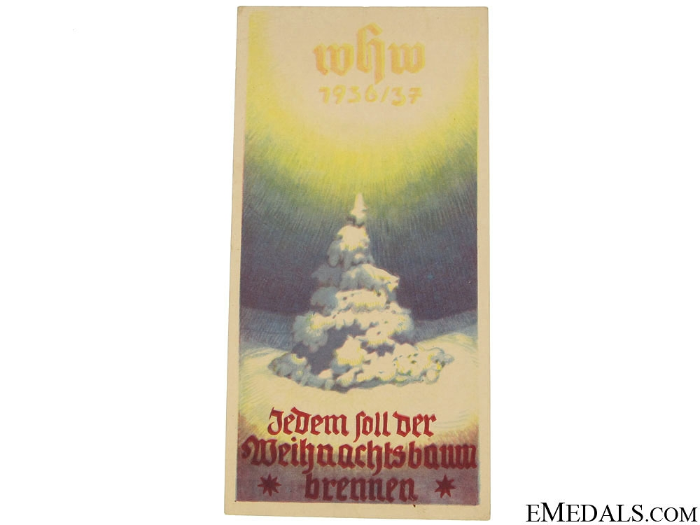 Winterhilfswerk (WHW) Each Set of Christmas Tree Burning Handout, 1936-1937