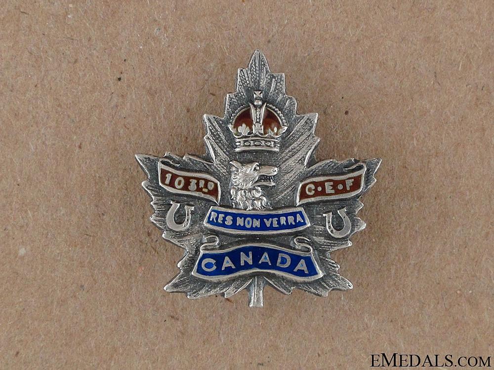 WWI 103rd Infantry Battalion CEF