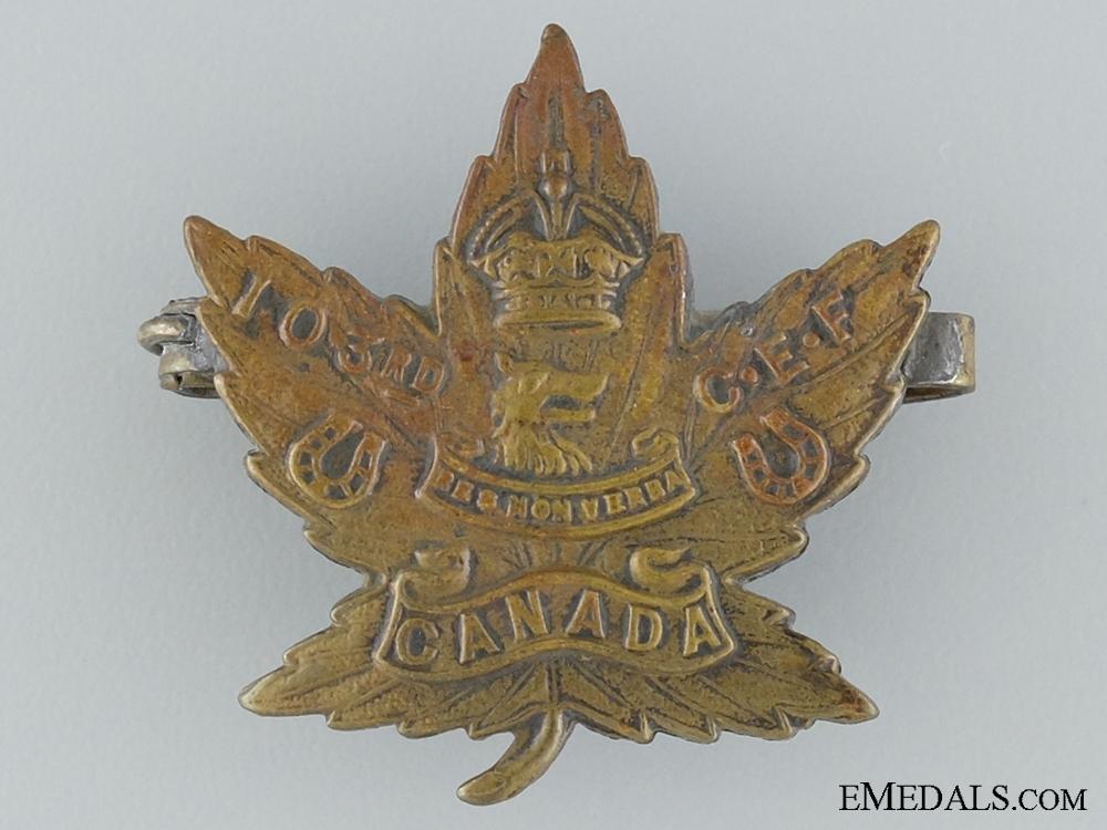 WWI 103rd Infantry Battalion Collar Tab CEF