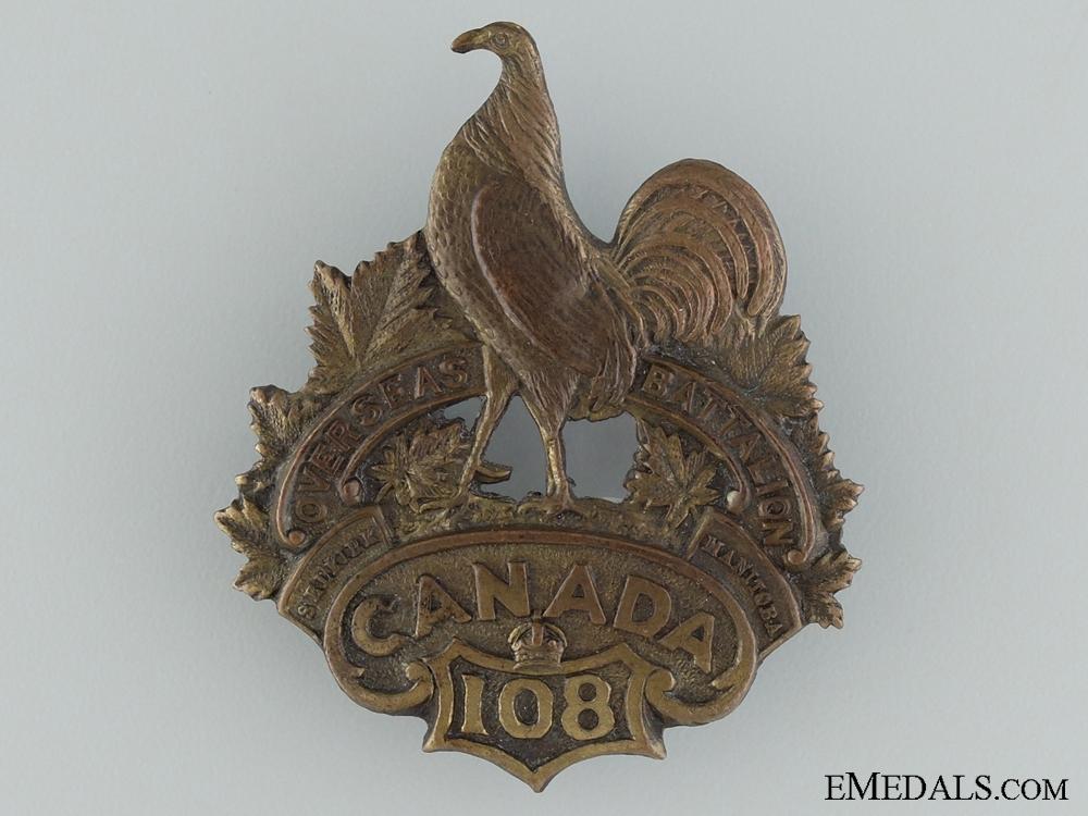 "WWI 108th Battalion ""Selkirk and Manitoba Battalion"" Cap Badge CEF"