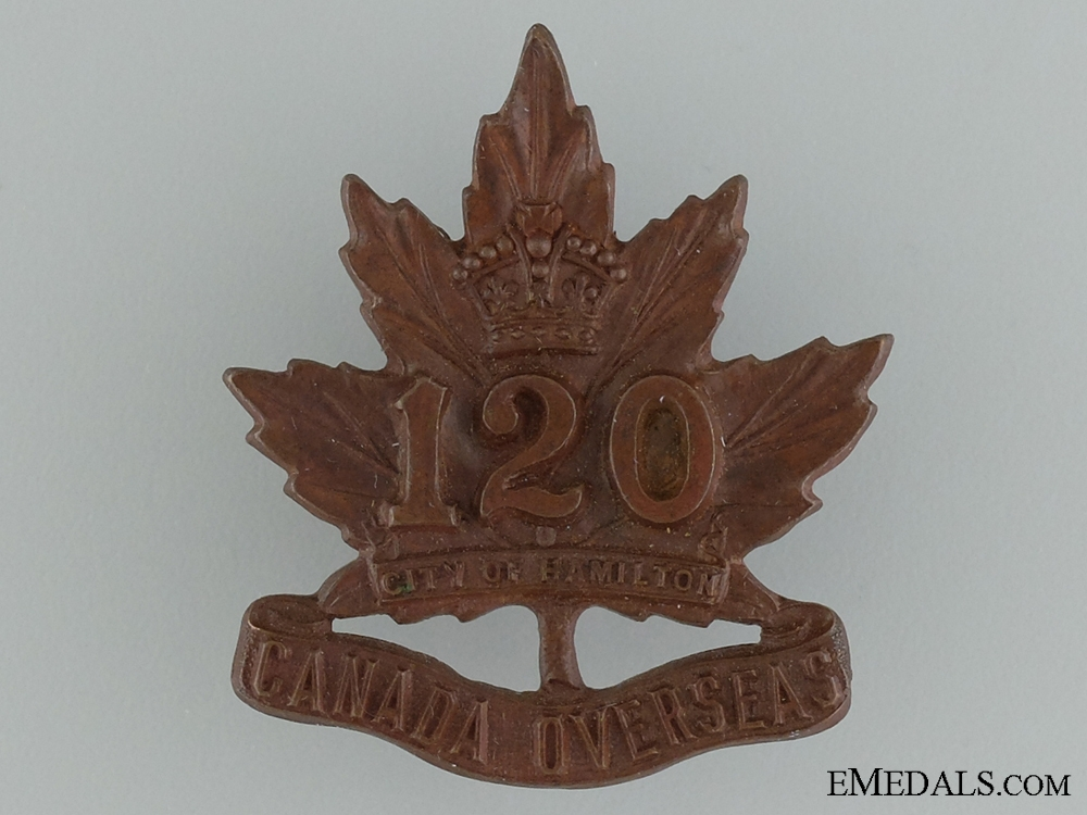 WWI 120th Infantry Battalion Cap Badge CEF