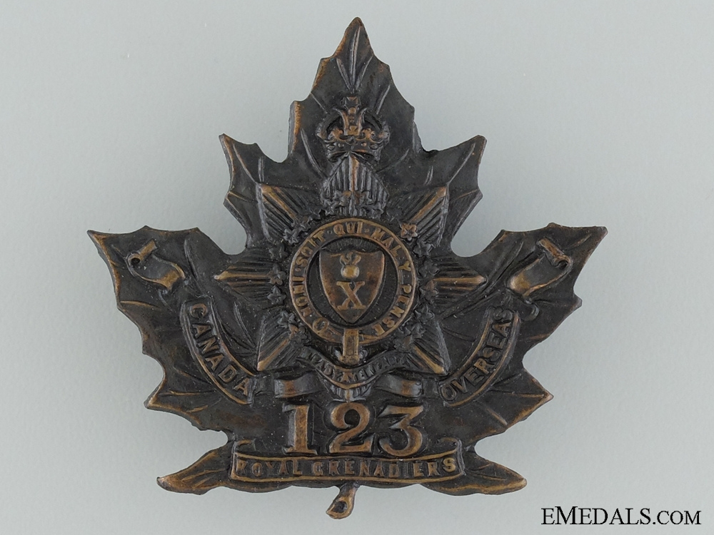WWI 123rd Infantry Battalion Cap Badge CEF