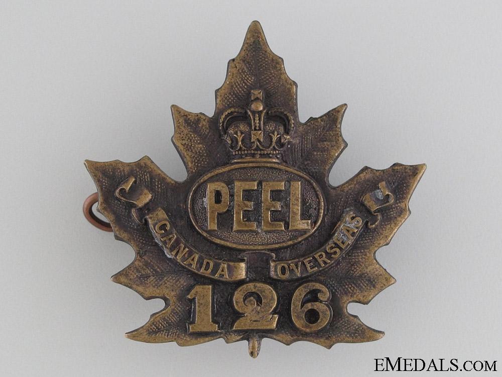 WWI 126th Infantry Battalion Cap Badge CEF