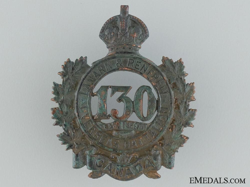 WWI 130th Infantry Battalion Cap Badge CEF