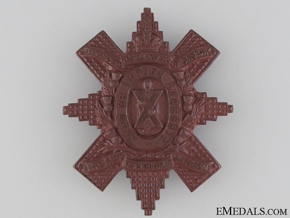 WWI 13th Battalion Glengarry Badge
