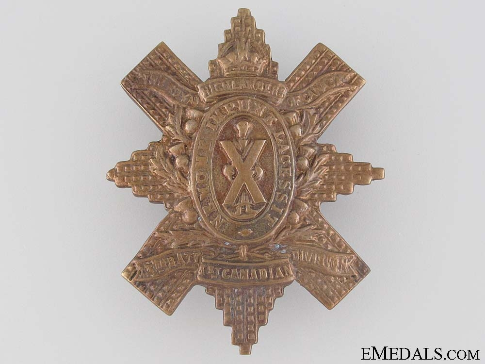 WWI 13th Infantry Battalion Glengarry Badge CEF