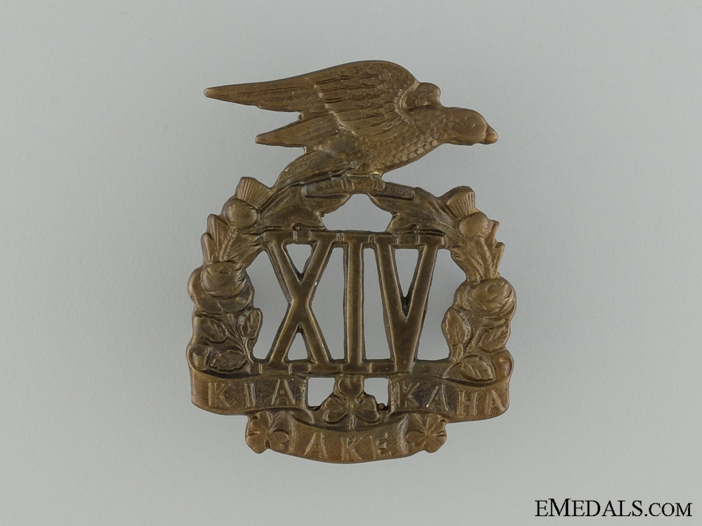 WWI 14th Auckland Rifles Cap Badge