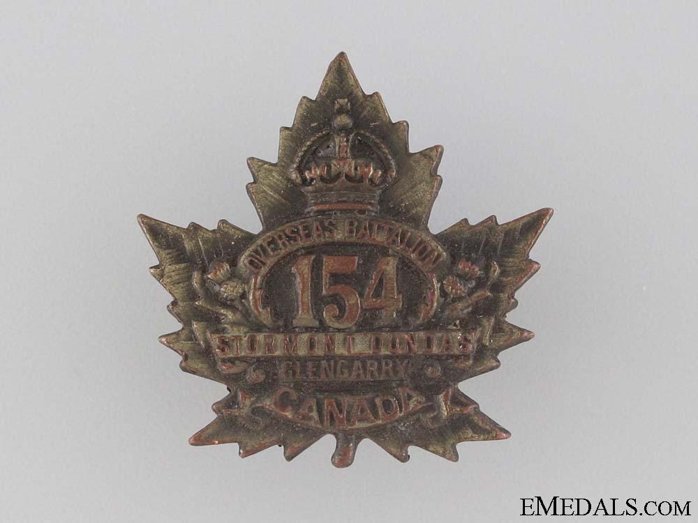 WWI 154th Infantry Battalion Collar Tab CEF