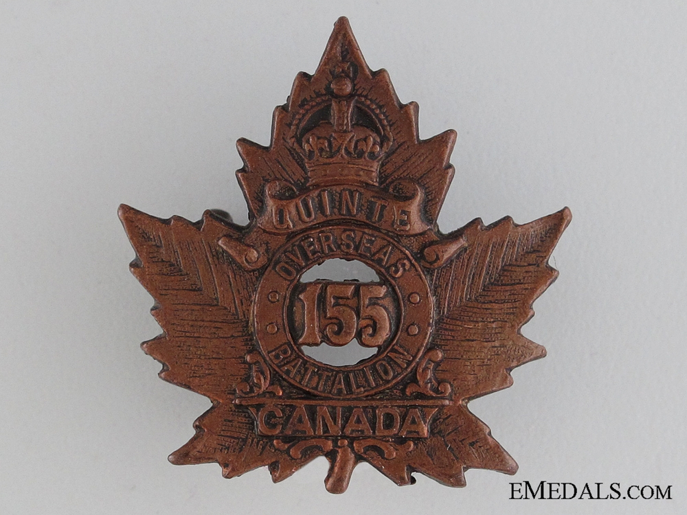 WWI 155th Infantry Battalion Collar Tab CEF