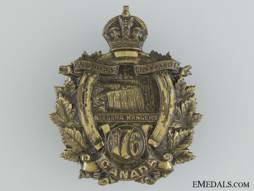 "WWI 176th Infantry Battalion ""Niagara Rangers"" Cap Badge"