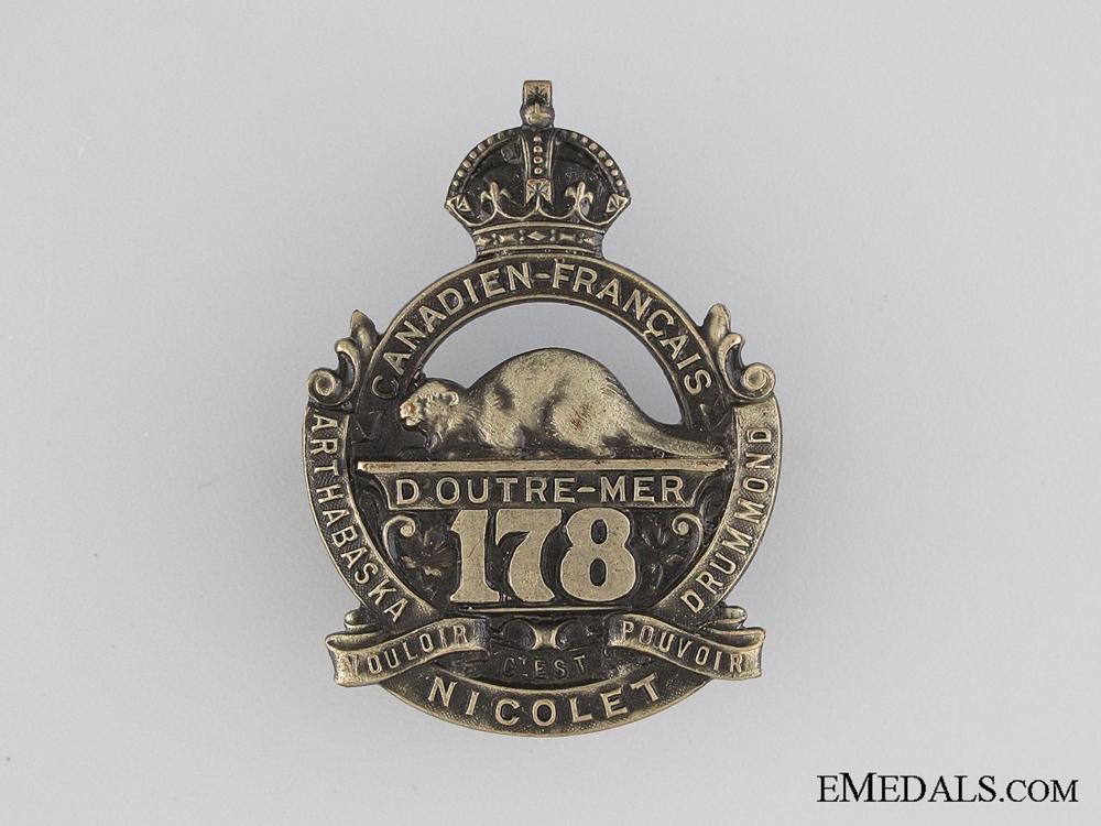 WWI 178th Infantry Battalion Cap Badge CEF