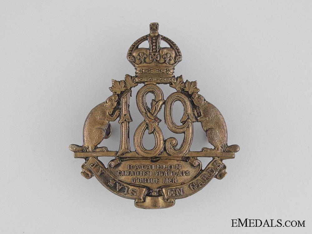 WWI 189th Infantry Battalion Cap Badge CEF