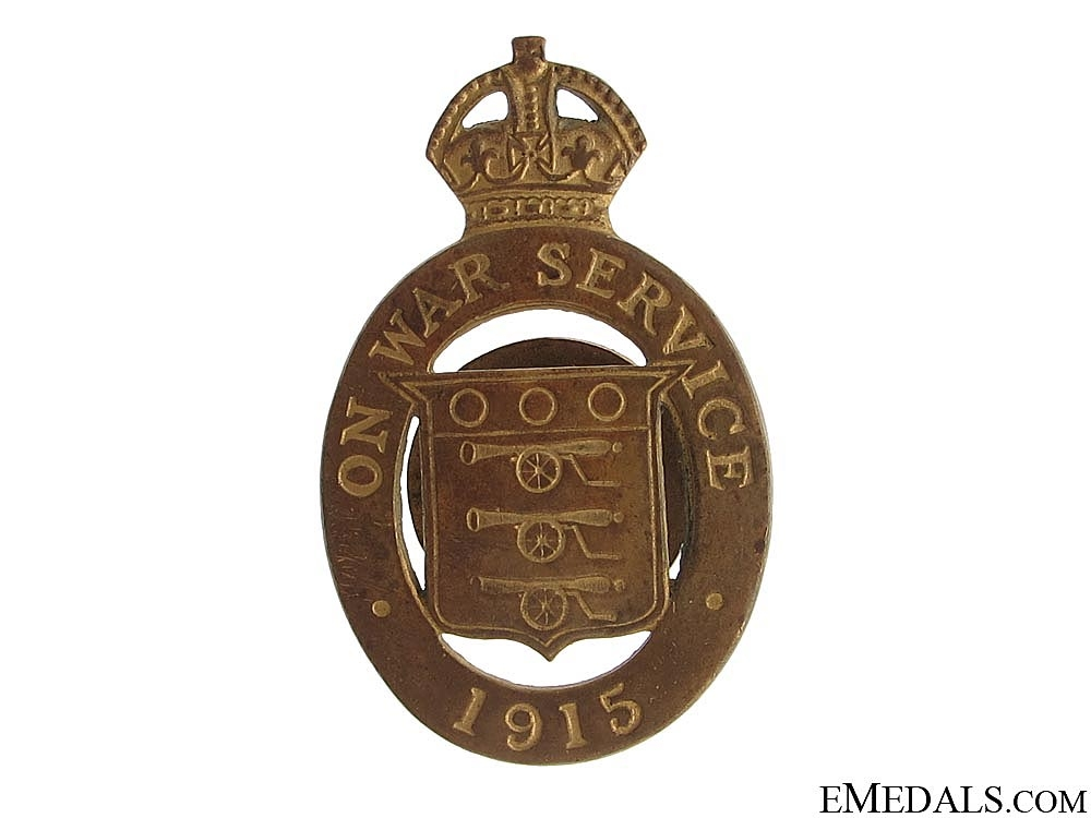 WWI 1915 On War Service Badge