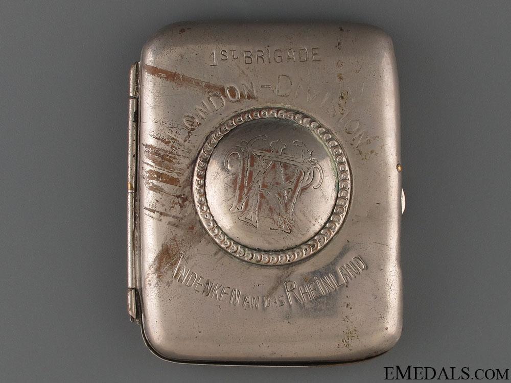 WWI 1st Brigade London Division Cigarette Case