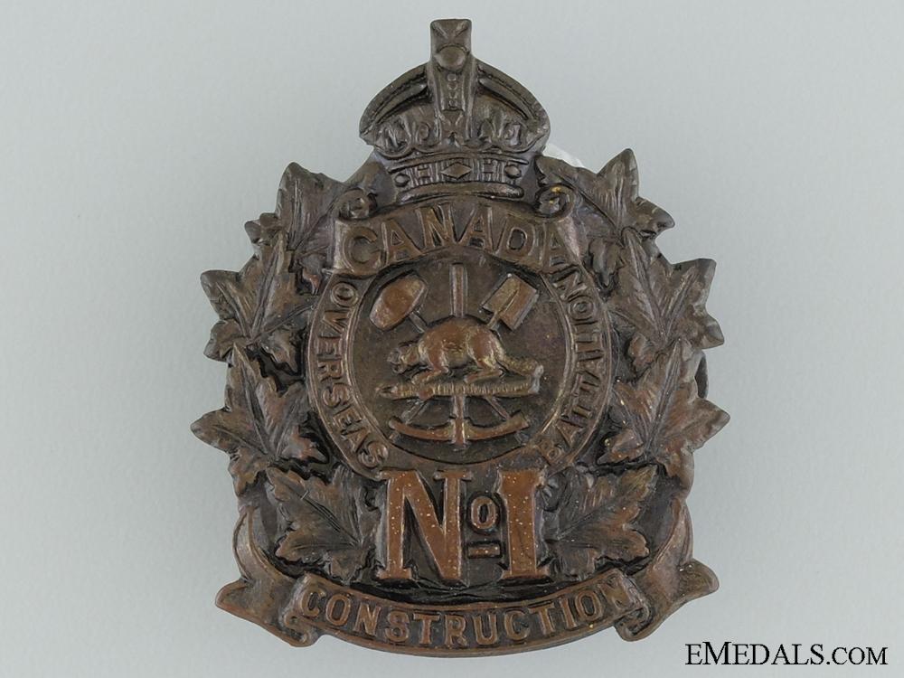 WWI 1st Canadian Overseas Railway Construction Corps Cap Badge