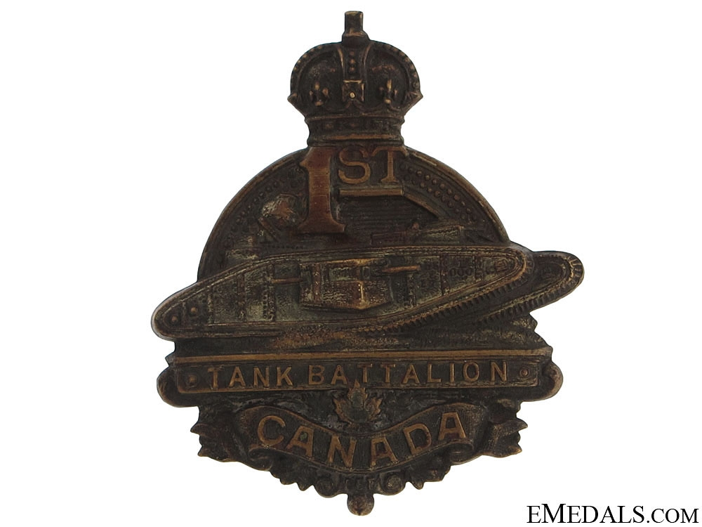 WWI 1st Tank Battalion Cap Badge CEF