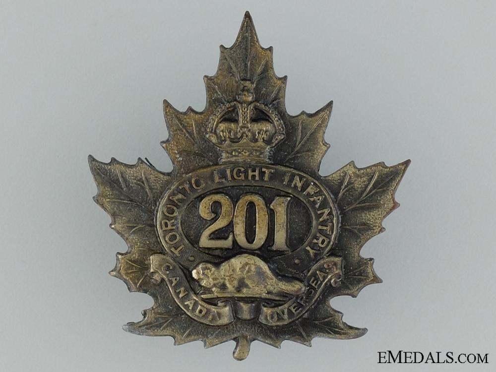 WWI 201st Infantry Battalion Cap Badge CEF