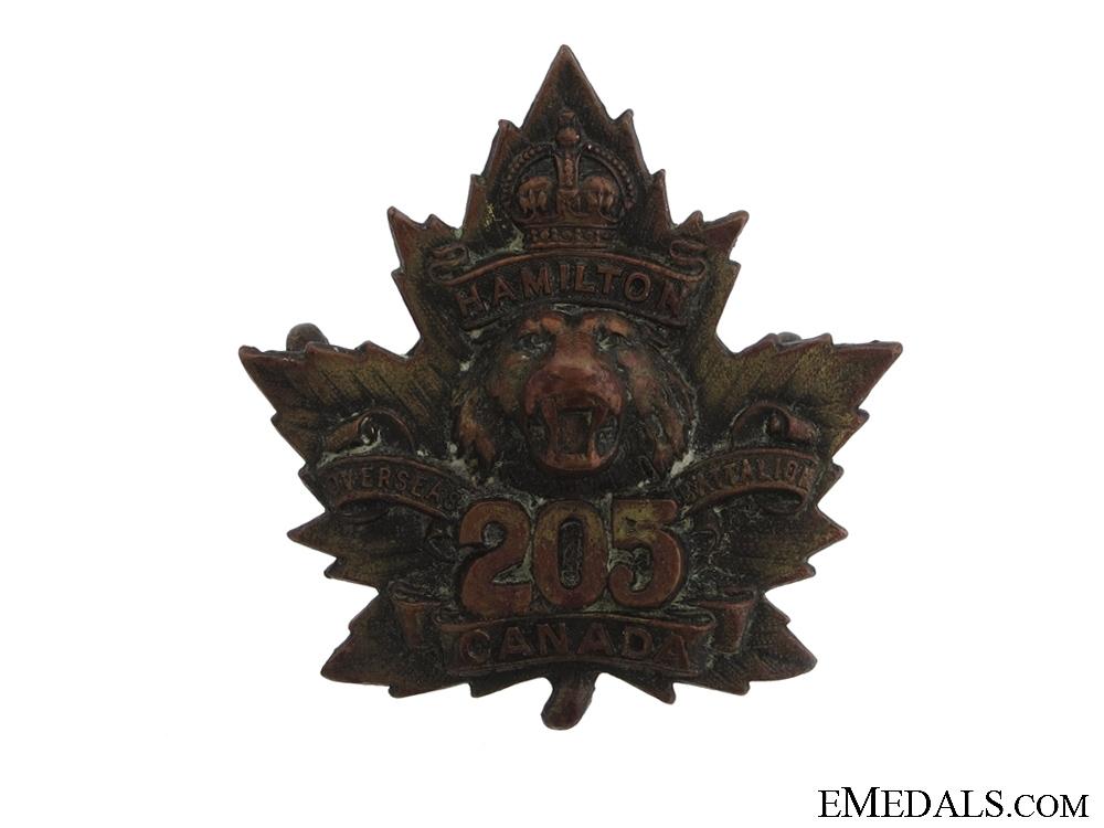 WWI 205th Infantry Battalion Cap Badge CEF