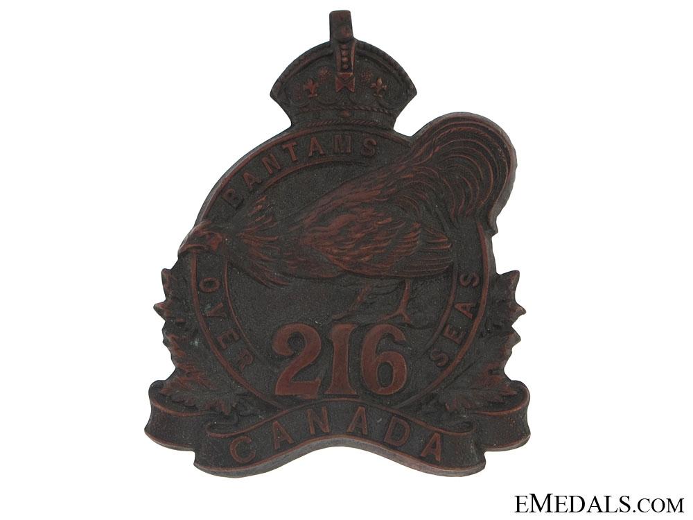 WWI 216th Infantry Bn Toronto Bantams Cap Badge - CEF