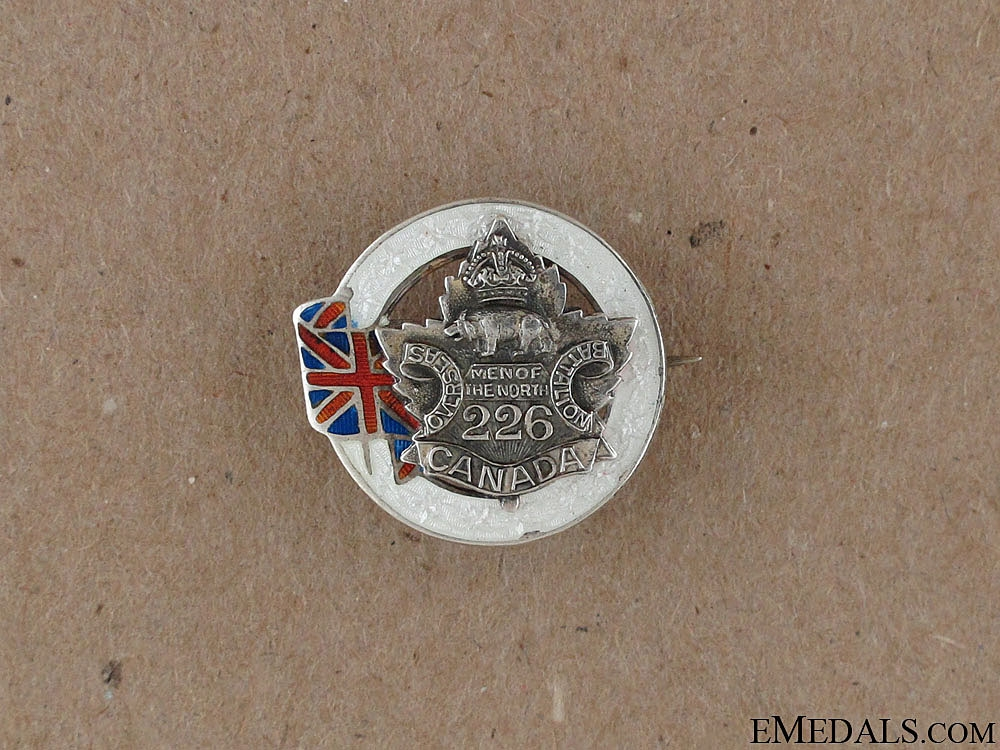 WWI 226th Men of the North Sweetheart Pin CEF