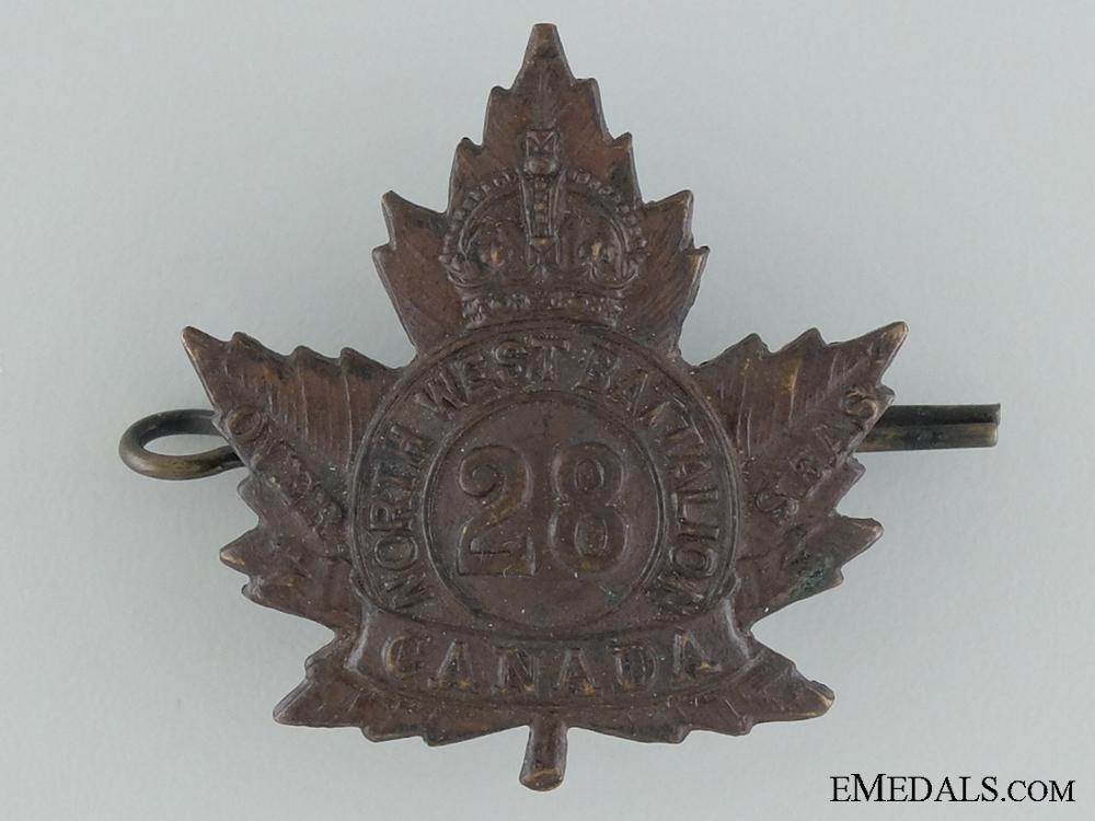"WWI 28th Infantry Battalion ""North West Regiment"" Cap Badge"