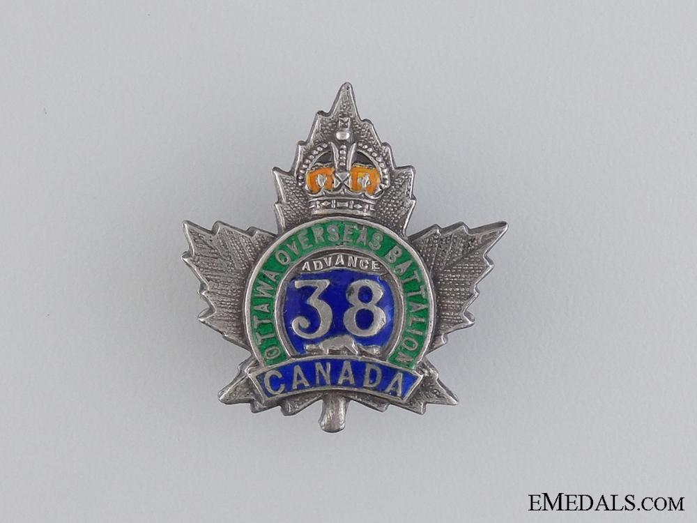 WWI 38th Infantry Battalion Royal Ottawa Battalion Pin