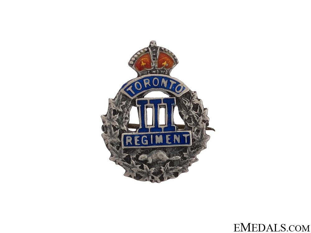 "WWI 3rd Infantry Battalion ""Toronto Regiment"" Pin"